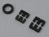 Die drei Kerne, andere Perspektive - Amidon FT114-77, EE25, E30