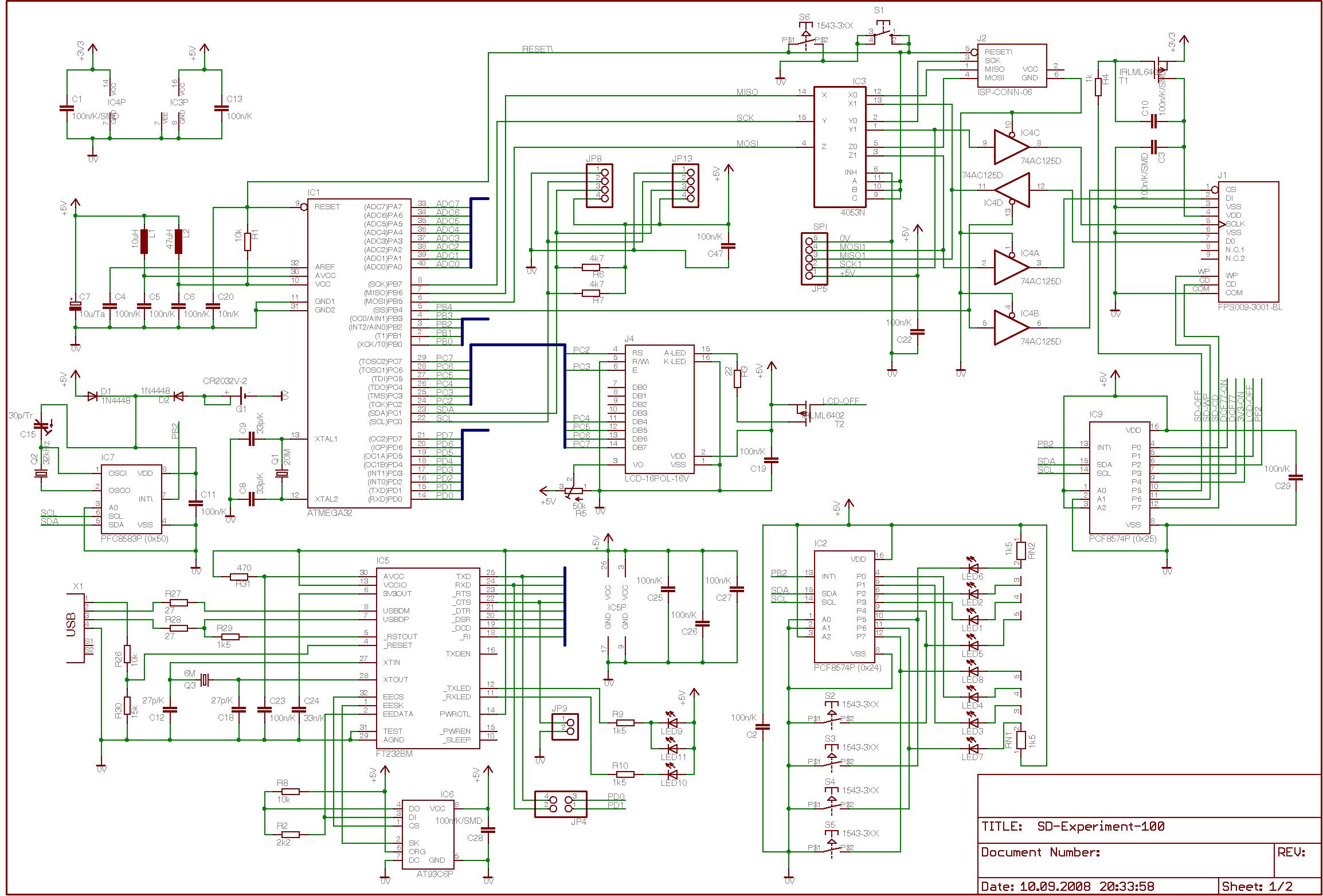 SD-Karte als Massenspeicher an einem Atmel AVR Microcontroller (SD ...