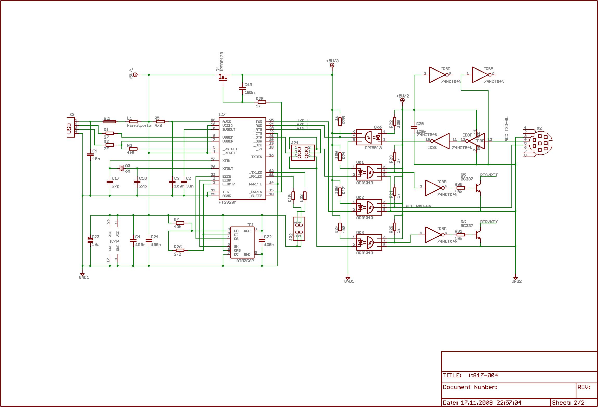 Cat Interface F 252 R Den Transceiver Yaesu Ft817 Mit