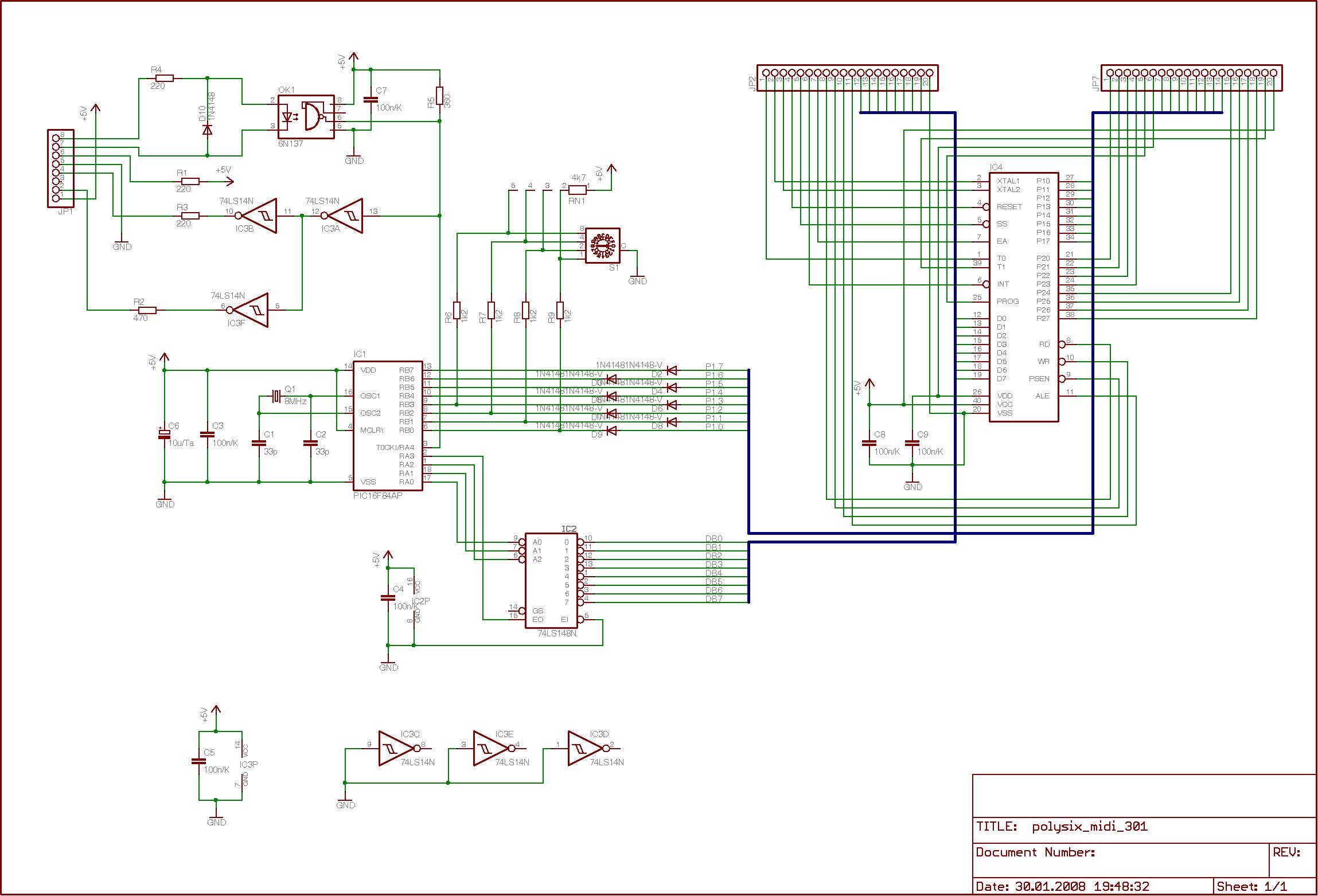 Nachrüstung einer einfachen MIDI-Schnittstelle für einen Korg ...
